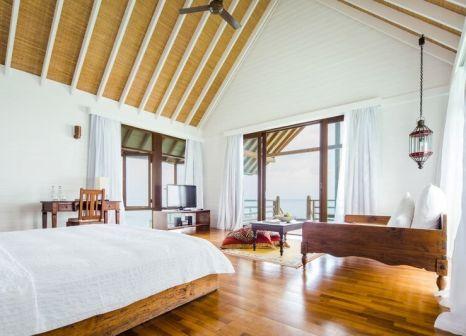 Hotelzimmer mit Volleyball im COMO Cocoa Island