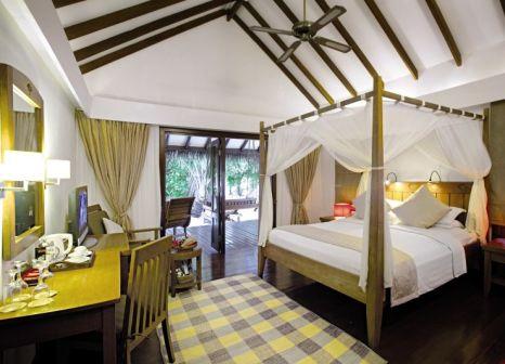 Hotelzimmer mit Tischtennis im Medhufushi Island Resort