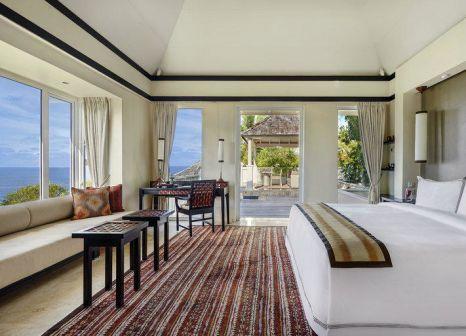 Hotelzimmer mit Mountainbike im Banyan Tree Seychelles