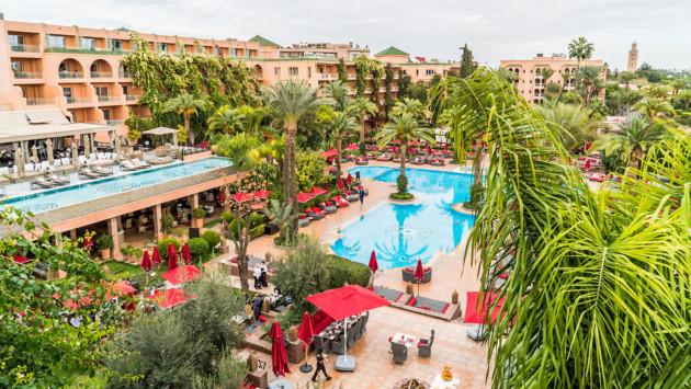 H tel sofitel marrakech lounge and spa bou okkaz - Piscine sofitel marrakech ...
