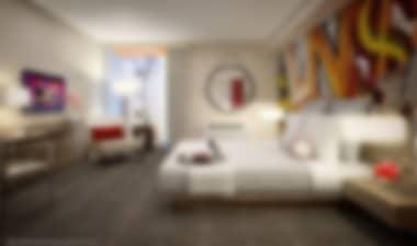 HotelNueva ultra-moderno Hotel de 4 estrellas en el Strip, cerca de tiendas populares