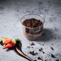 Crema de Chocolate con Brownie