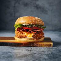 Crispy Chicken Club Burger