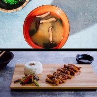 Menú 1: Sopa de Miso + Pollo Teriyaki