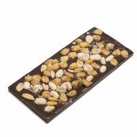 Tableta Chocolate negro y cacahuetes salados