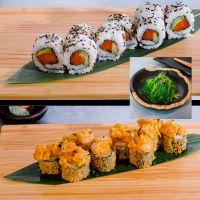 Menú 5: Sake Roll + Maki Ebi Tempura + Wakame