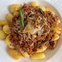 Gnocchi a la Boloñesa Vegana