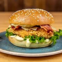 Majestic Parmensan & Bacon Chicken Burger