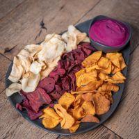 Chips de Verduras con Hummus