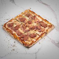 Pizza Bacon y Frankfurt