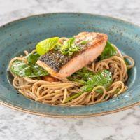 Espaguetti Integral Ecológico con Salmón & Espincas