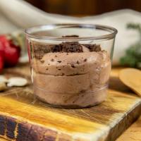 Mousse de chocolate con brownie