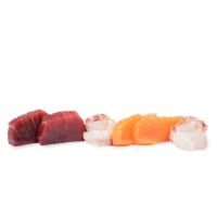 Sashimi Mixto Atún, Salmón & Lubina (6 piezas)