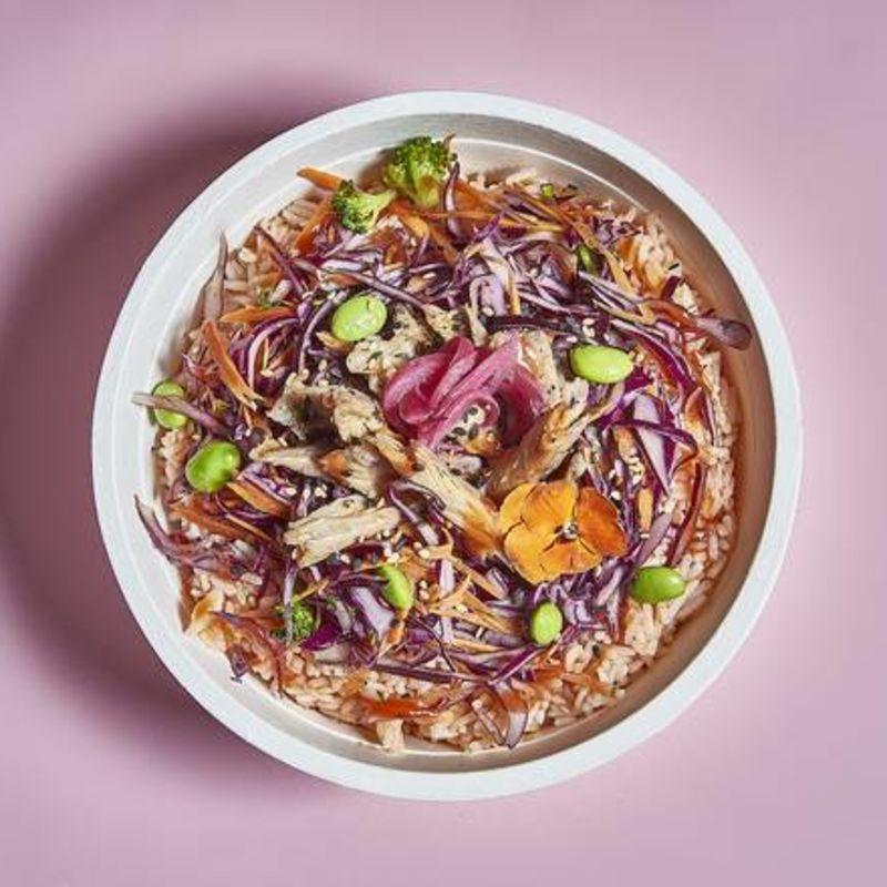 Arroz Kimchi con Veggie Pollo