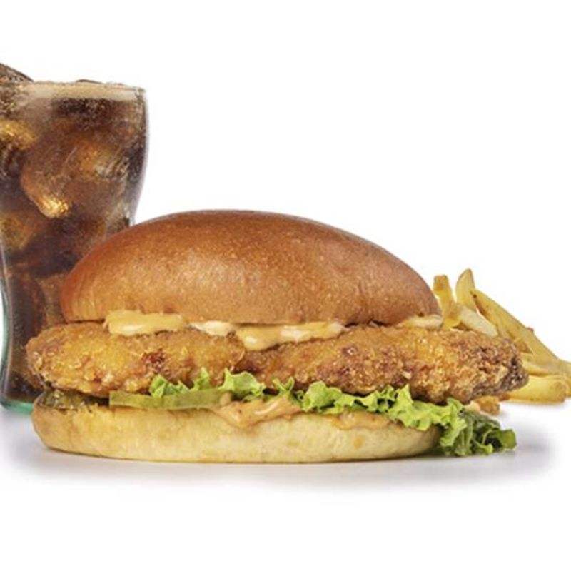 Menu Louisiana Chicken Burger.