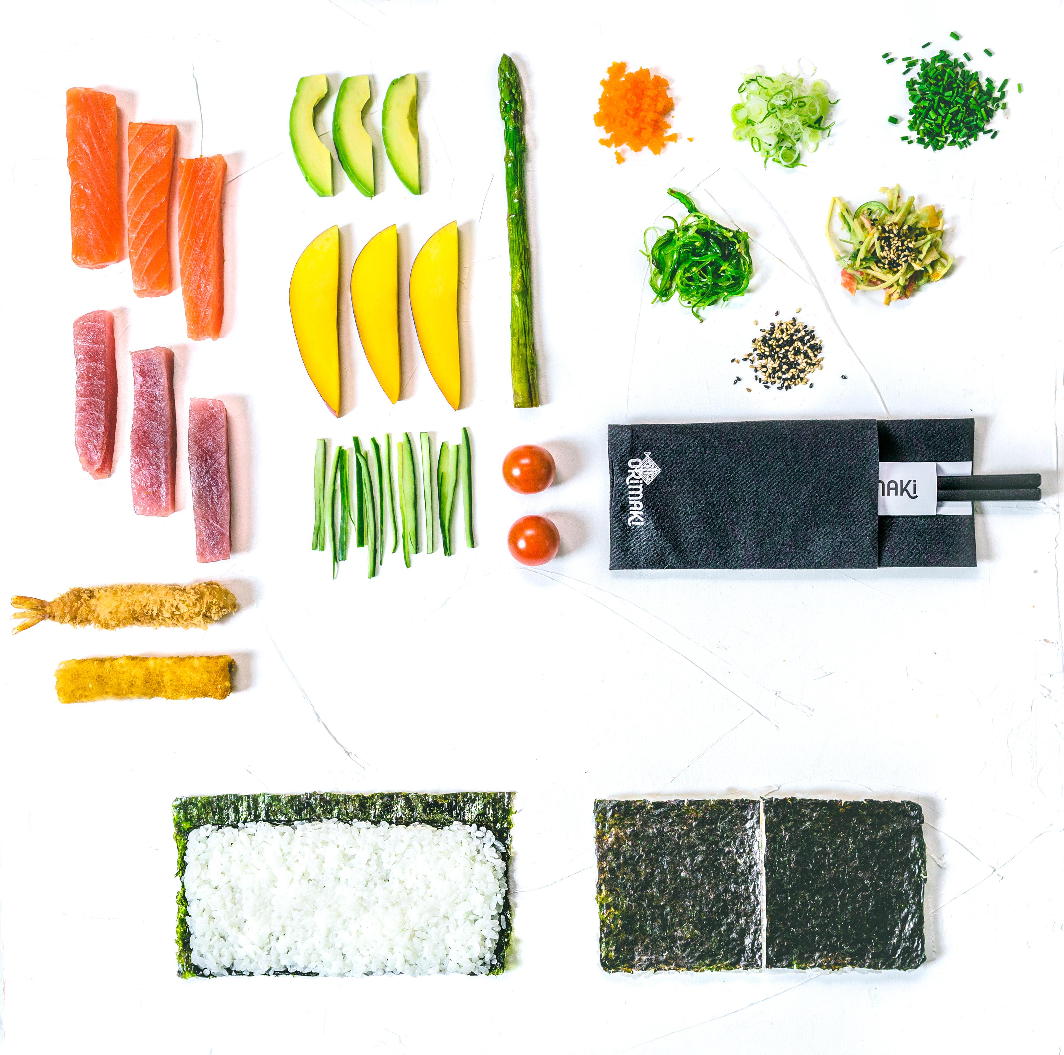 Futomaki. Alga por fuera (10 piezas)