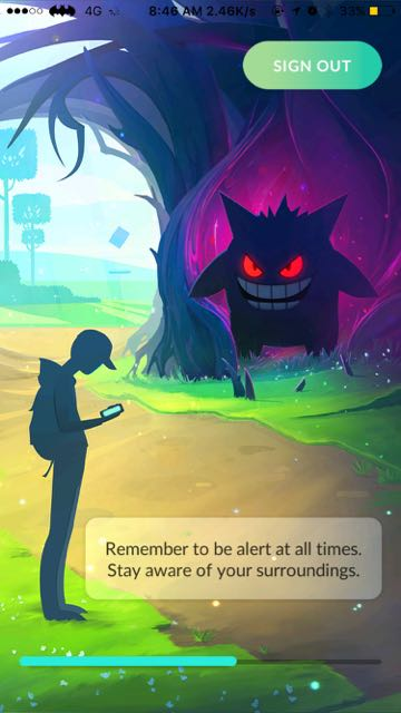 loading screen pokemon go hallowen