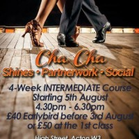 Intermediate Cha Cha with Salsa Goddess Sundays 4.30-6.30pm