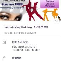 Edie The Salsa FREAK's Lady's Styling Workshop!!