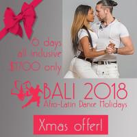 Bali 2018 Afro-Latin Dance Holidays Salsa, Bachata, Kizomba