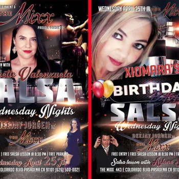 Salsa wednesadays with deejay jorgeh at the mixx in pasadena