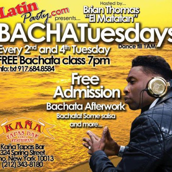 BachaTuesdays – Every 2nd and 4th Tuesday