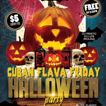 Cuban Flava Halloween Friday at Dylan's