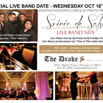 Live Band Soirée de Salsa Wednesday – Tino BDAY Celebration!