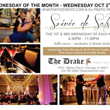 1st Wed of the Month-Soirée de Salsa Wednesday The Drake Hotel