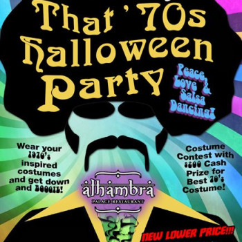 Salsa Tuesday '70s Halloween Party at Alhambra – Dress Up!