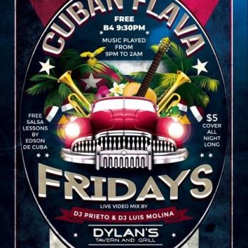 Cuban Flava Fridays – Free B4 9:30pm!