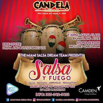 Salsa Y Fuego Thursdays at Candela Bar Brickell