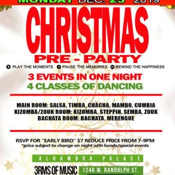 Christmas Pre-Party Salsa Night – 4Classes, 3RMS, 6DJs,700ppl