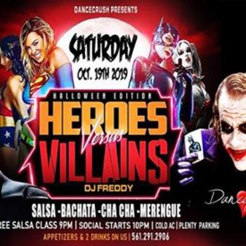 Halloween Social; Heroes VS. Villains @Dancecrush!