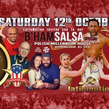 Sat 12 Oct ★LatinMotion ★Birmingham SALSA Special★ Polish Centre