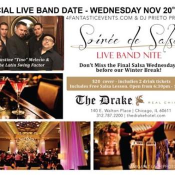 Live Band Soirée de Salsa Wednesday – Last Wednesday b4 Winter