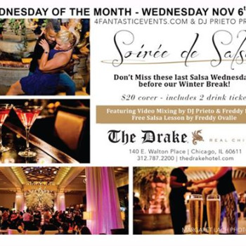 Soirée de Salsa Wednesday – Last 2 Wednesdays b4 Winter Break