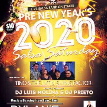 Pre New Years Live Salsa– ft. Tino & The Latin Swing on stage