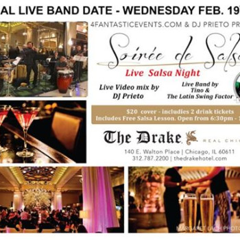 Official Return of Live Band Soirée de Salsa Wednesday Drake