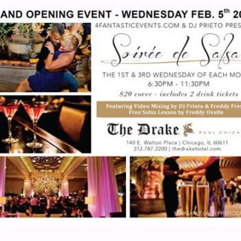 Grand Opening 2020 – Soirée de Salsa at The Drake Hotel