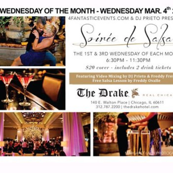 1st Wednesday of the Month – Soirée de Salsa at The Drake Hotel