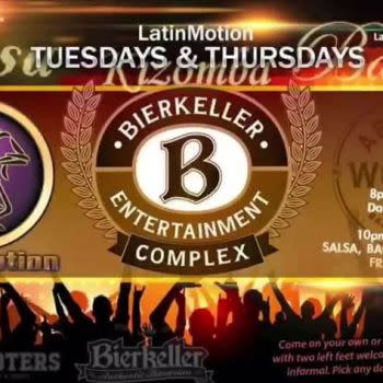 LatinMotion *weekly* Tuesdays SALSA, Bachata, Kizomba Night