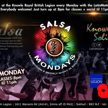 LatinMotion Monday SALSA Classes & Social | Knowle, Solihull