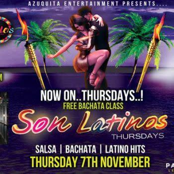 Salsa & Bachata Thursdays at SON Latinos. Parramatta – Free ENTRY