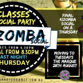 The FINAL Kizomba Social @ RG's! Free Social PARTY