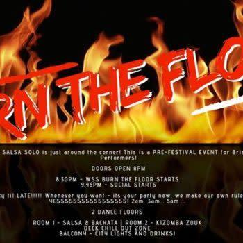 BURN the FLOOR PARTY – Pre-Festival World Salsa Solo Fiesta