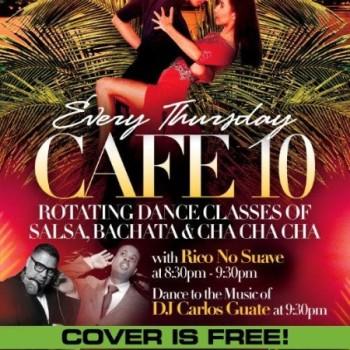 "HotOn1Salsa Presents ""Tropical Thursdays at Cafe 10"" Daleeee!"