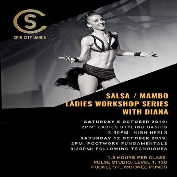 Salsa/Mambo: Ladies workshops with Diana