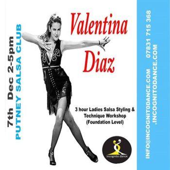 3 hour Ladies Styling Salsa Workshop with Valentina