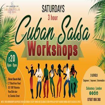 3 Hour Intensive Cuban Salsa Workshops (Every Saturday)